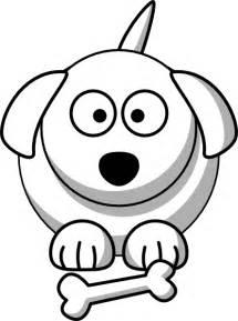 Cartoon Dog Outline Clip Art
