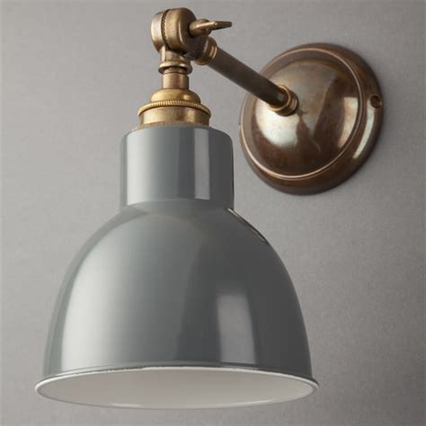 classic grey adjustable arm wall light