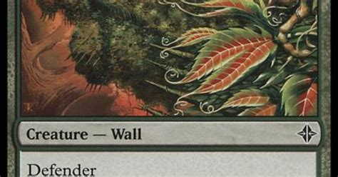 overgrown battlement 2 cost mana r wall defender mtg green cards i like cards