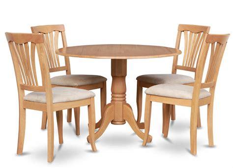 Dinette Table With Leaf by 5pc Dinette Set 42 Quot Drop Leaf Kitchen Pedestal Table