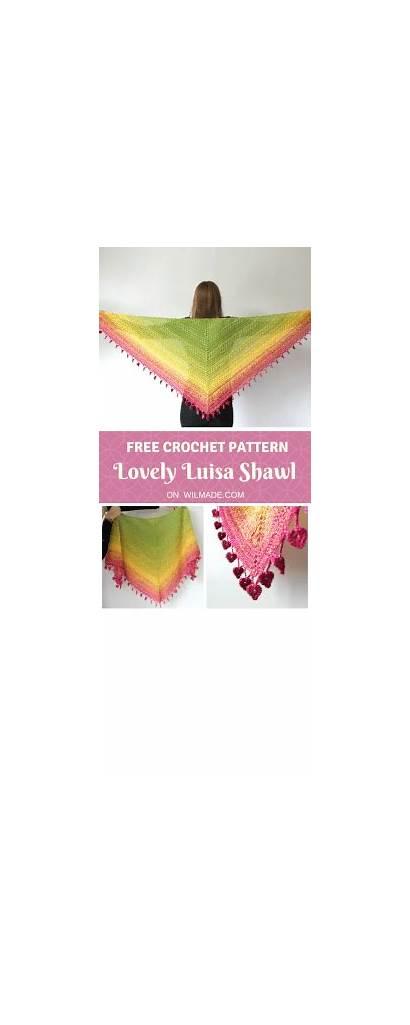 Crochet Shawl Pattern Lovely Luisa Triangle