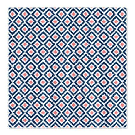 curtains for bathroom navy blue coral diamonds ikat shower curtain bathroom