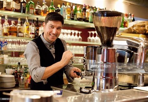 Peoples organic eden prairie is located at the corner of valley view road & prairie center drive. Barista Making Coffee At Italian Coffee Shop High-Res Stock Photo - Getty Images