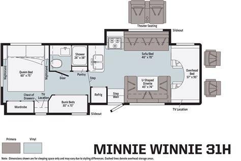 floorplans   winnebago minnie winnie  spirit lichtsinn rv blog