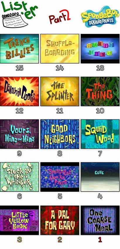 Spongebob Worst Episodes Deviantart Pt