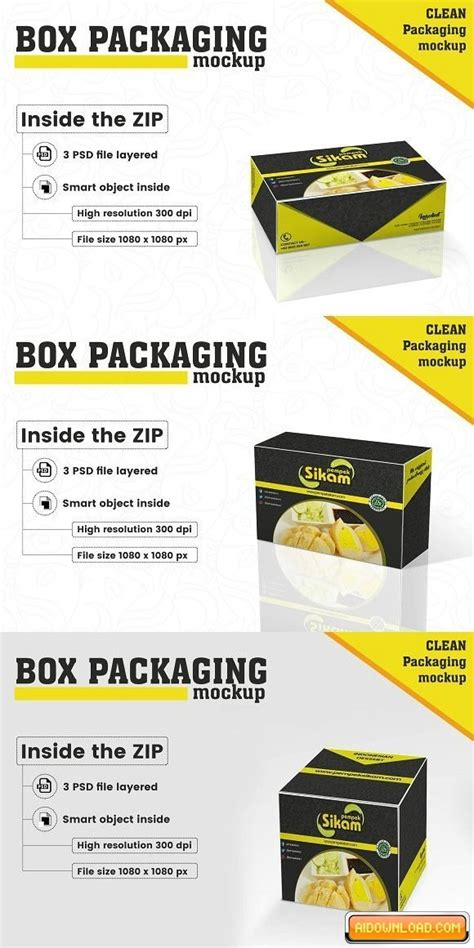 With the help of smart psd mockups for photoshop, you can realistically superimpose your creations onto almost any product and packaging imaginable within a few clicks. Box Packaging Mockup   Free Graphic Templates, Fonts ...