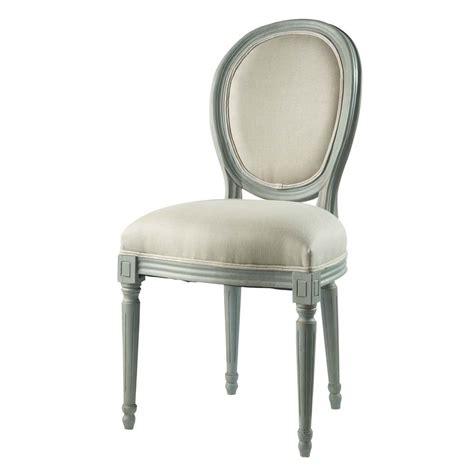 chaise médaillon maison du monde chaise médaillon en et bois gris louis maisons du monde