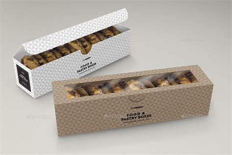 Best free packaging mockups from the trusted websites. Food Pastry Boxes Vol.2: Cookies | Macarons | Pastry Take ...