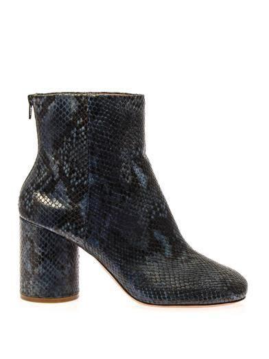 Maison Martin Margiela Tabi snakeskin ankle boots | Love ...