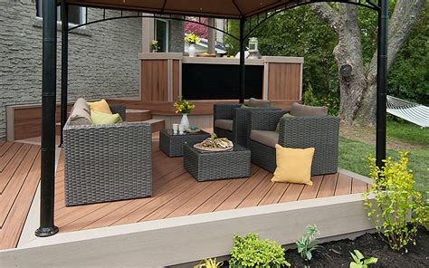 small deck design ideas  trex