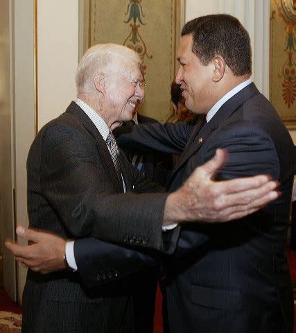 jimmy carter el presidente chavez sera recordado por su