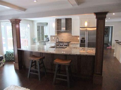 Kitchen Island With Support Column Kitchen Remodel Kitchen