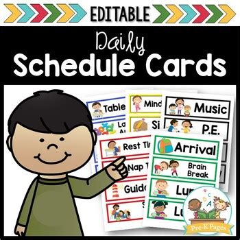printable picture schedule cards for preschool and 812 | original 1966414 1