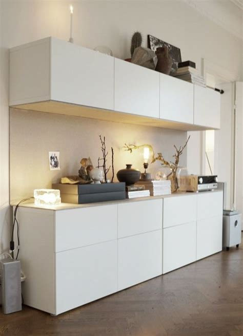 Hanging Besta Cabinets by Creatively Integrating Ikea Besta Units Into The Interior