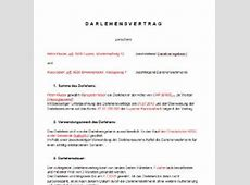 Privat Geld Verleihen Vertrag Muster Die Bilder Coleection