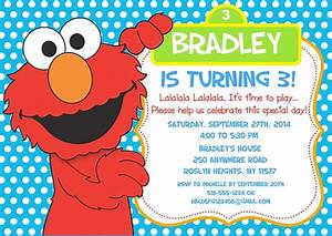 elmo birthday party invitations sesame street kids With elmo template for invitations