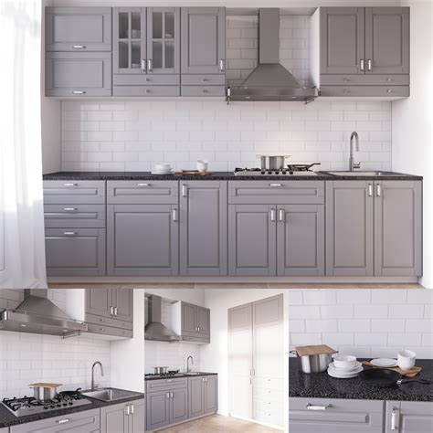 ikea 3d kitchen design ikea bodbyn 3d model 4415