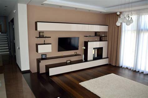 mobilier modern living cu semineu inclus  polite din pal