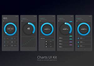 Growth Chart Charts Ui Kit Mobile Element Set Download Free Vectors
