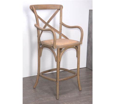 chaise de bar grise chaise de bar en chêne grisé quot bistrot 4966