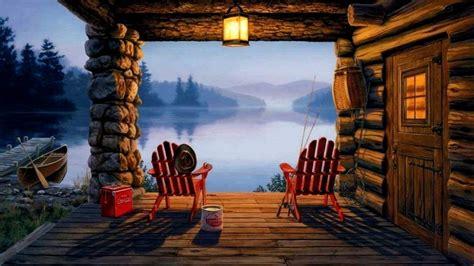 log cabin desktop wallpaper