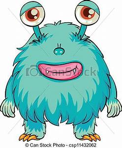 a scary monster on a white | Clipart Panda - Free Clipart ...
