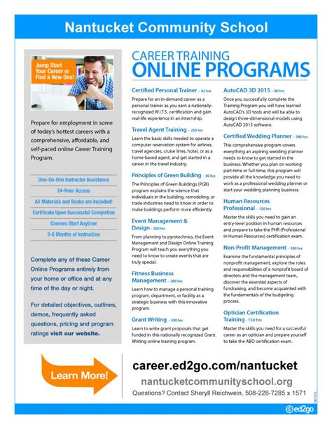 Online Career Training  Nantucket Community School. Pinnacle Fund Administration. Tech School Vs College Autocad Online Classes. Title Loans San Francisco Heroin Detox Center. Bankruptcy Chapter 7 Florida. The Meaning Of Social Science. How To Fight Cigarette Cravings. Best Medical Billing And Coding Online Schools. Web Application Designer Mysql Workbench Help