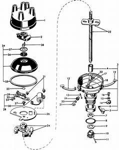 Ford 8n Distributor Cap    Rotor P