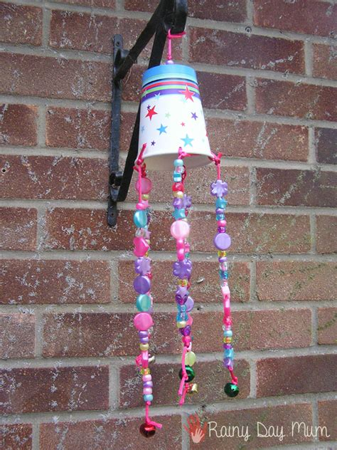 recycled wind chime craft wind chimes craft spring