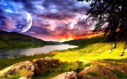 Scenery Land Fantasy Wallpapers Nature Background Lovely