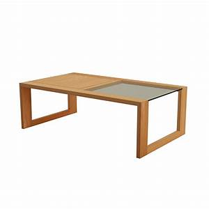 Oak coffee table element lounge table 120x70 at tikamoon for Cheap oak coffee table