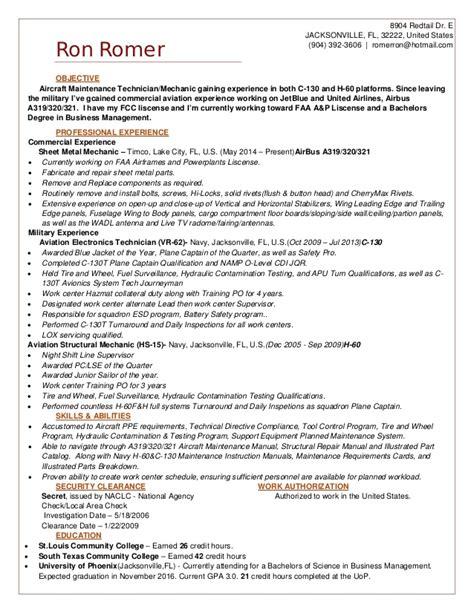 structures mechanic resume