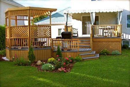 terrasse en bois avec paliers et pergola patio screened gazebo patios and