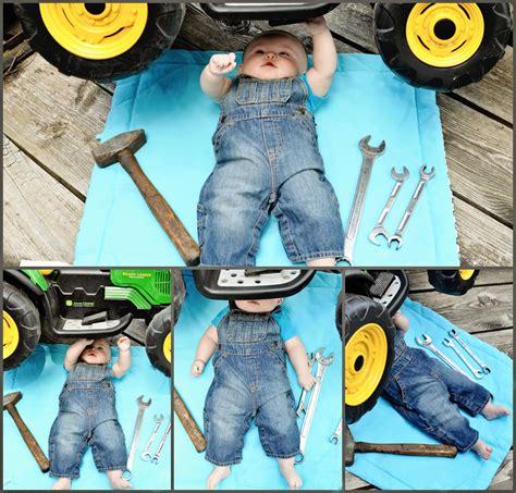 month baby boy john deer tractor mechanic