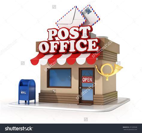 bureau post it post office clipart 46