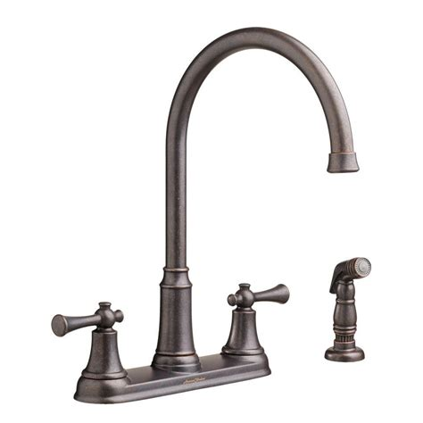 2 handle kitchen faucet with side sprayer american standard portsmouth high arc 2 handle standard