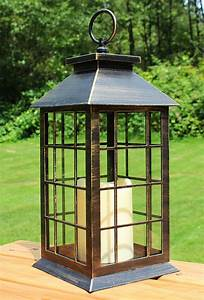 13, U0026quot, Country, Style, Rustic, Decorative, Lantern, With, Flickering, Flameless, Led, Candle, And, 4, Hour