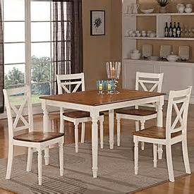 Farmhouse 5piece Twotone Dining Set, Find The Perfect