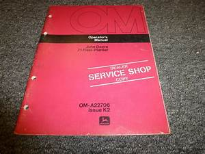 John Deere Model 71 Flexi Planter Owner Operator Manual