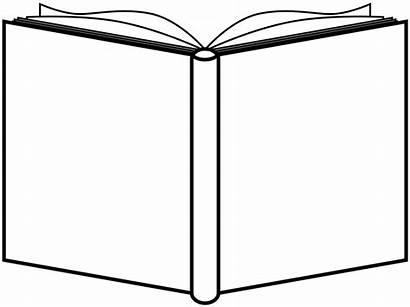 Outline Open Clip Clipart Books Square Coloring