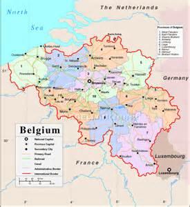 Brussels Belgium Europe Map
