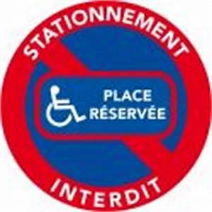 Autocollant Interdiction De Stationner : autocollants stationnement interdit place r serv e handicap ~ Medecine-chirurgie-esthetiques.com Avis de Voitures