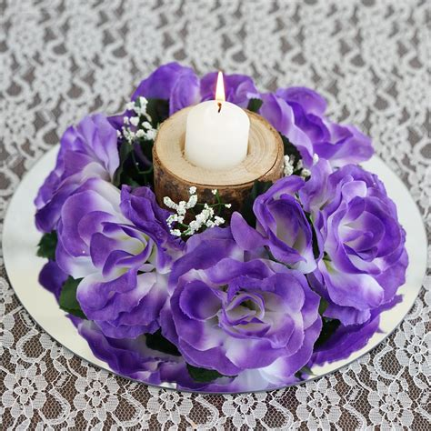 16 Artificial Roses Flowers Candle Rings Centerpieces