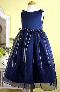 Toddlers Navy Blue Dress