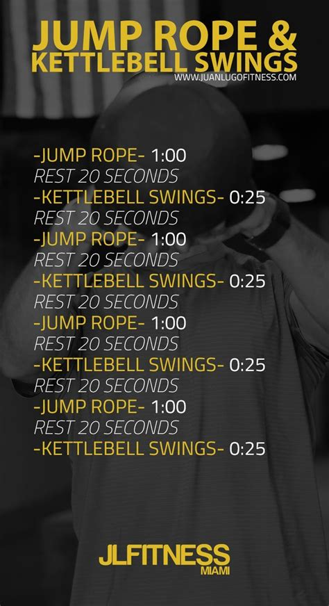 rope jump kettlebell workout training circuit