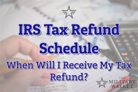 irs tax refund schedule direct deposit   tax year