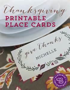 free printable thanksgiving place cards elegance enchantment