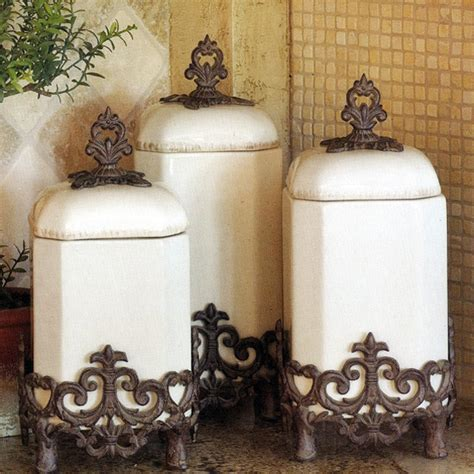 cool kitchen canisters the gg collection provencal canister set in traditional kitchen canisters and jars