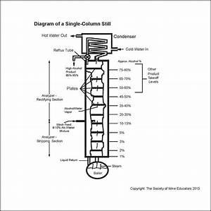 Diagram Of A Column Still  U2013 Wine  Wit  And Wisdom