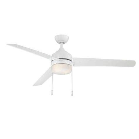 60 white ceiling fan with light hton bay carrington 60 in indoor outdoor white ceiling